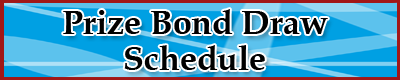 Prizebond Draw Schedule 2018