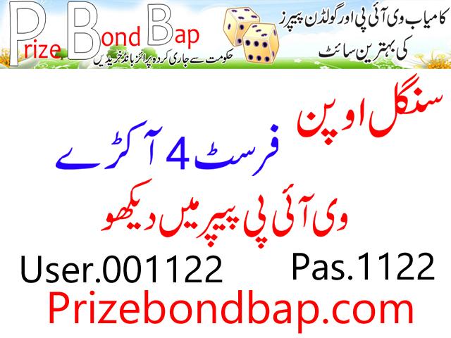 Photostate Papers All Prizebond